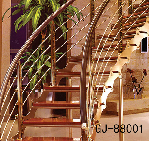 别墅不锈钢楼梯